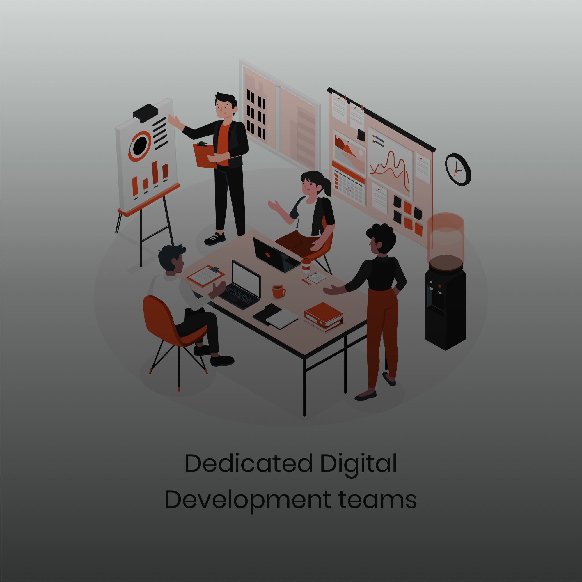 dedicated digital team for your projects