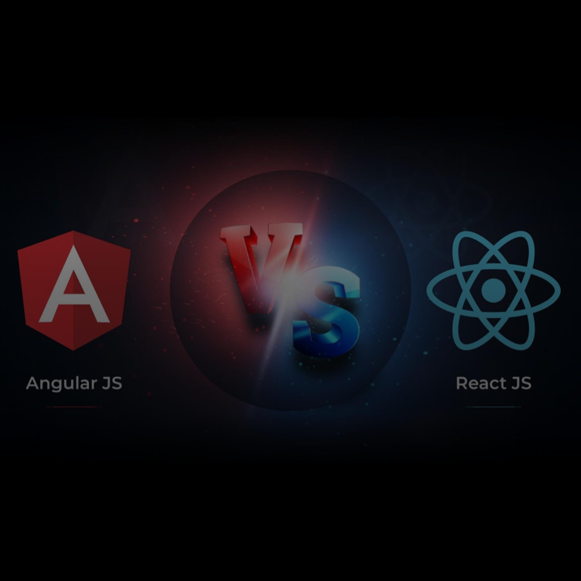 react vs angular frontend developer