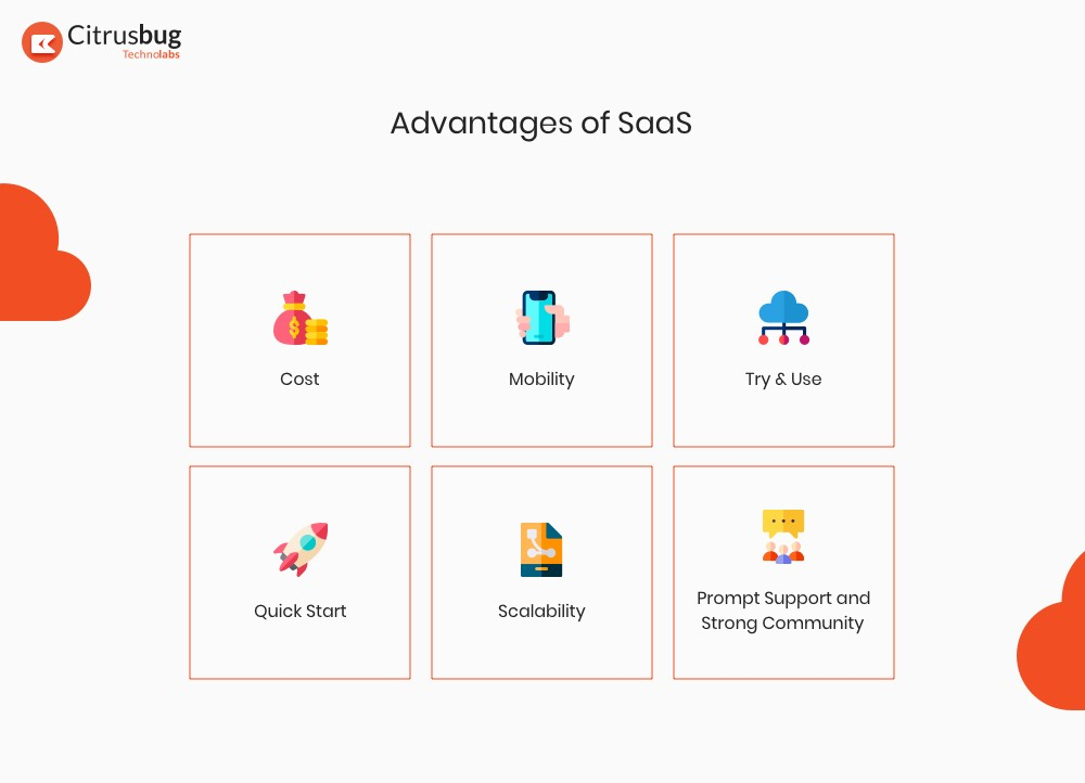 Advantages of SaaS applications