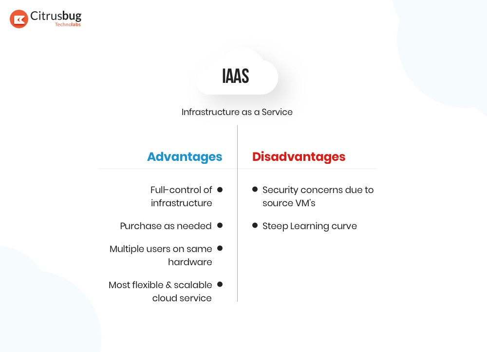 IaaS advantages and disadvantages