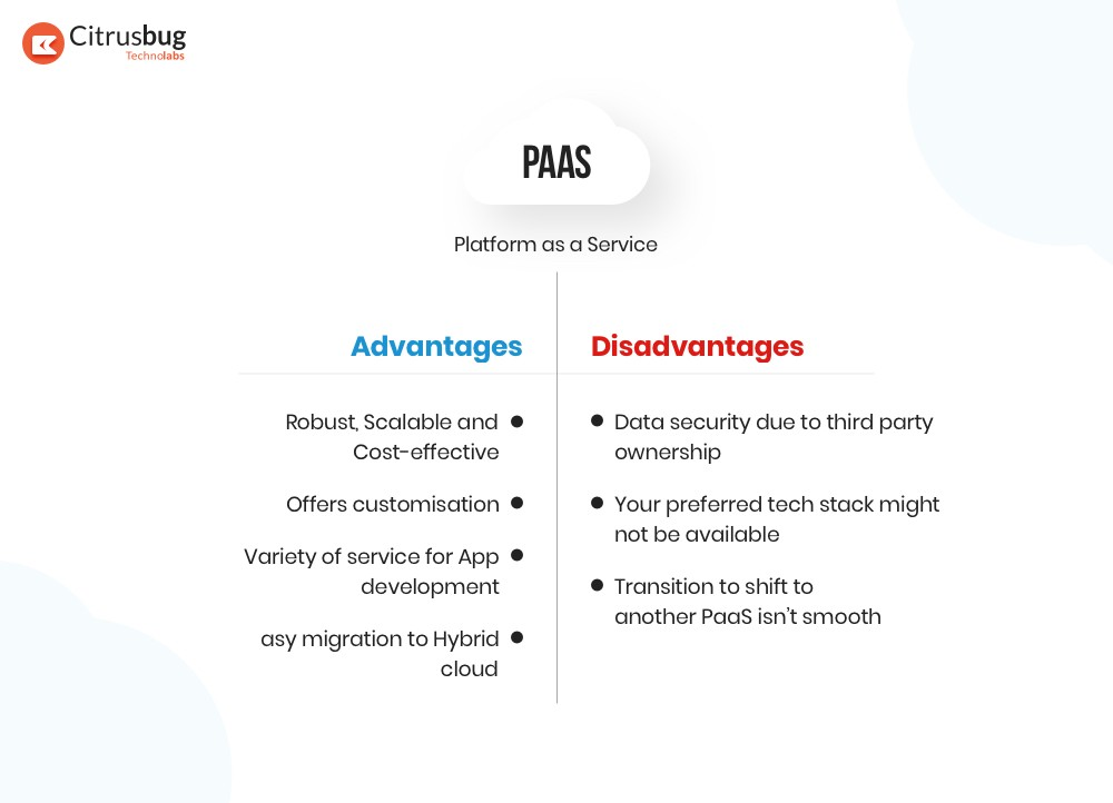 PaaS advantages and disadvantages