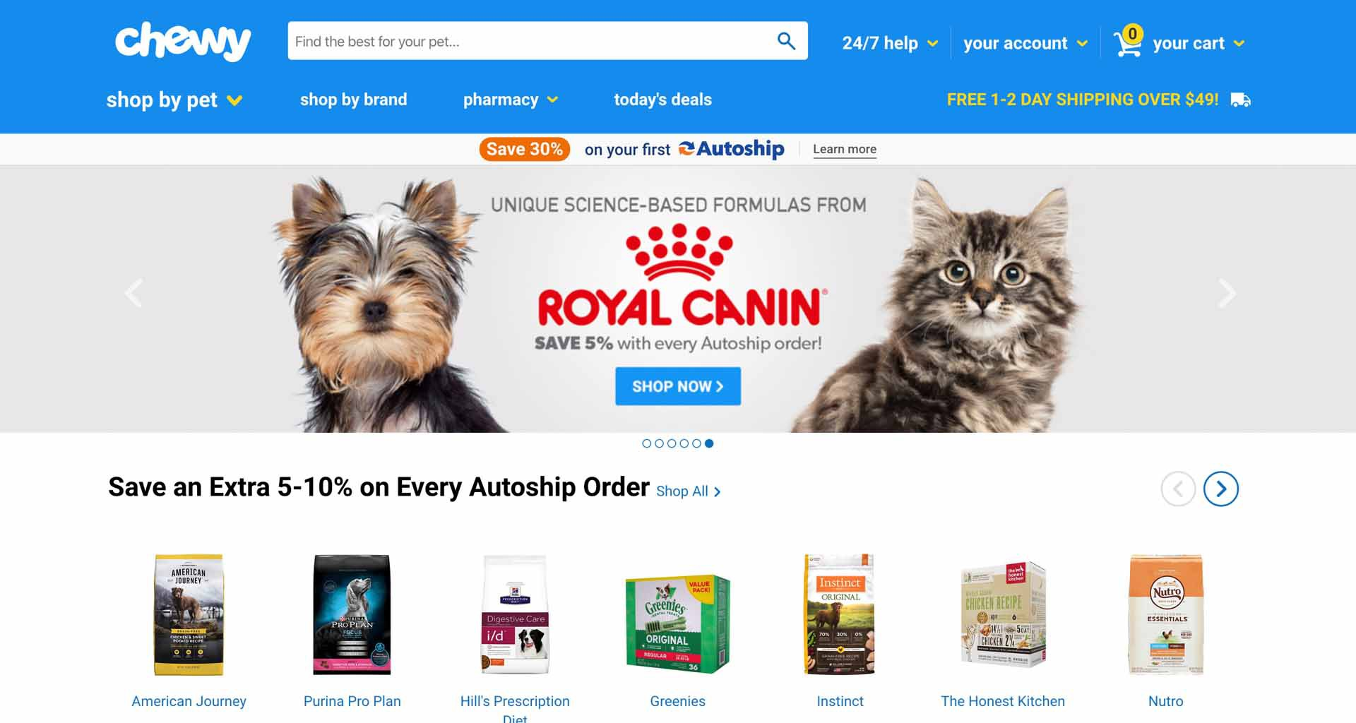 Chewy Pet Ecommerce